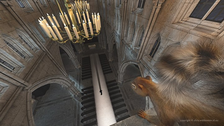 Best seat in the cathedral? 😂🐿️