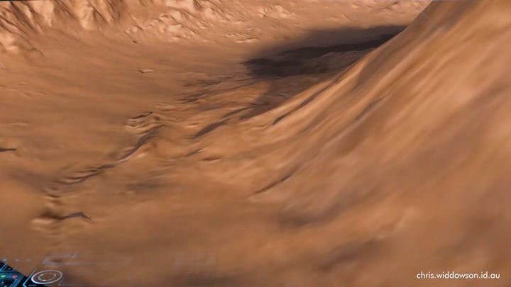 Using the height-map data and satellite photos that NASA make available to the public, I've created this virtual fly through of Mars's Gale Crater. Enjoy!
